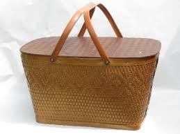vintage picnic basket vintage 1950 s picnic basket indian label