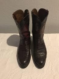 vintage cowboy boot l lucchese vintage black cherry ostrich boots l series size 10 d