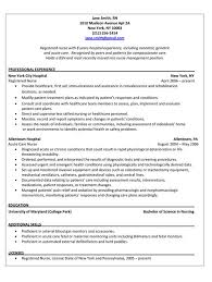 nursing resume sle sle resume for registered position buckey us
