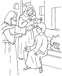 jesus raises a young man to life coloring page bible jesus