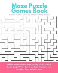 printable hard maze games maze puzzle games book brain challenging maze game book for teens