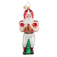 radko 1017672 touchdown santa football santa ornament