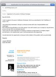 Examples Of Email Cover Letters For Resumes by Sending Your Application By E Mail Resume Cv Cover Letter