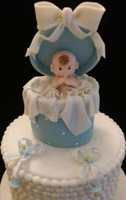 baby shower cake toppers baby in surprise box cake topper
