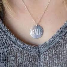 Monogrammed Sterling Silver Necklace 4 Monogrammed Sterling Silver Necklaces For By Netexchange On Etsy