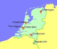netherlands location in europe map airports in the netherlands or guides flights
