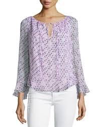 diane von furstenberg simonia daisy shadows plisse silk blouse