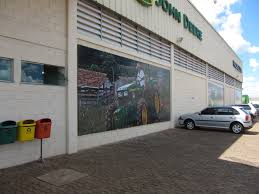 john deere dealership in brazil adventures in agriculture this is just a shot of the outside of the dealership building i loved the murals on the wall