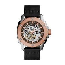 Watch Interior Leather Bar Online Skeleton Exposed Gear Watches Fossil