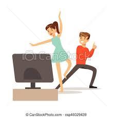 imagenes en movimiento bailando captura consola gamers gente juego pareja movimiento