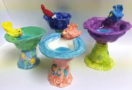 Animal Pots Miniature Ceramic Bird Bath Pinch Pot And Slab Lesson Create