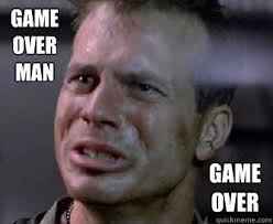 Game Over Meme - game over man game over misc quickmeme
