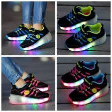 ladies light up shoes uk stock kids girls boys child skate led shoes size light up shoes