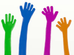 diverse hands painting
