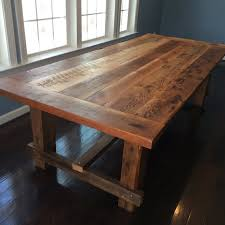 Dining Room Wood Tables by Farm Style Dining Table Hand Made From Reclaimed Barn Wood On