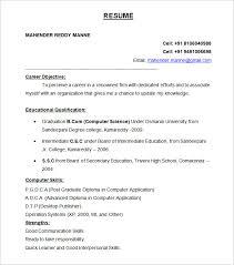 resume format in word file