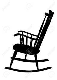 Old Rocking Chair Vintage Rocking Chair Stencil Left Side Royalty Free Cliparts