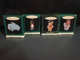 hallmark miniature ornaments mixed lot of 4 in box 3 99 picclick