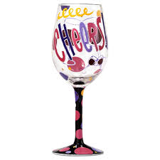 birthday cheers cheers handpainted wine glass 15 oz wine glasses