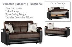 Space Saving Loveseat Loveseat Size Sofabed Sleeper Brown Luna Sofa The Futon Shop