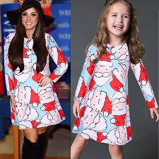 Buy 2018 Christmas Dress Mother Daughter Dresses Family Matching