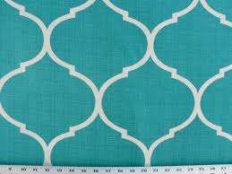 teal home decor fabric