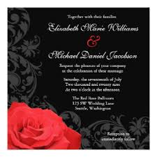 Red Wedding Invitations Red Wedding Invitations U0026 Announcements Zazzle