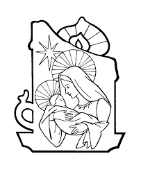 christmas nativity coloring book printable kids gilboardss