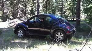 diesel volkswagen beetle lifted vw new beetle tdi towing a tree youtube