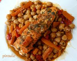 cuisiner des pois chiches saumon aux pois chiches et aux carottes pâtisseries et gourmandises