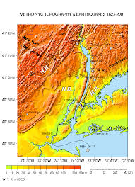 map of new york city largest earthquakes near new york city