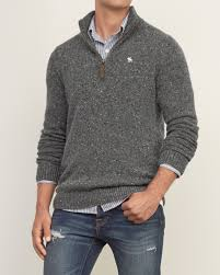 mens iconic quarter zip pullover mens sweaters abercrombie