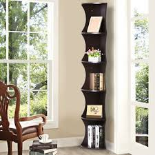 Corner Storage Shelves by Brown 5 Tier Corner Shelf Display Rack Bookcase Storage Shelves