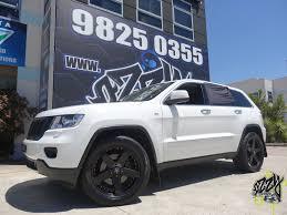 jeep matte black jeep grand cherokee with kmc rockstar 775 matte black wheels