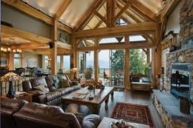 timber frame great room lighting british columbia timber home rooms with a view article