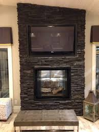 see thru fireplace insert decor idea stunning luxury to see thru