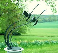 garden sculpture flying birds pinteres