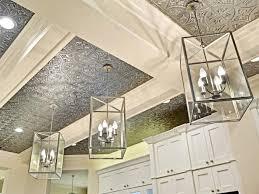 Talissa Decor Tin Ceiling Light And Talissa Decor Faux Antique Finish Tiles