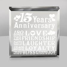 15 year anniversary ideas wedding anniversary gift ideas 15 years lading for
