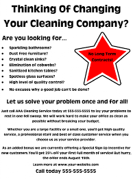 commercial cleaning brochure templates office cleaning flyers sle fieldstation co