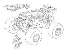 wheels monster car coloring netart