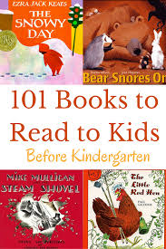 101 books to read to kids before kindergarten