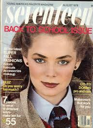 seventeen magazine back to issue august 1978 model lari