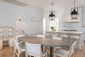 Axis Dining Table Lucite Axis Barstools With Gray Wainscot Island Transitional