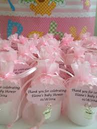 candle baby shower favors baby shower favors candles votive in an organza bag with a charm
