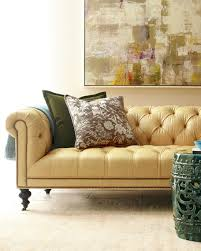 Leather Chesterfield Sofas Old Hickory Tannery Morgan Sunshine Leather Chesterfield Sofa