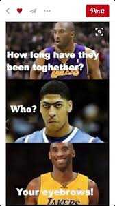 Funny Basketball Memes - how long have they been together who ur eyebrows lol pinterest