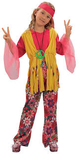 Hippie Halloween Costumes Kids Childrens Hippy Fancy Dress Costume 60 U0027s 70 U0027s Flower Power
