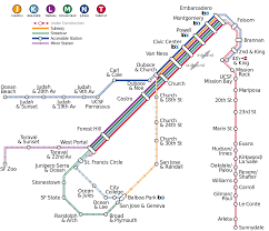 Sf Bart Map List Of Muni Metro Stations Wikipedia
