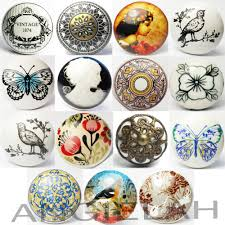 vintage ceramic door knobs mix u0026 match shabby chic handles boho